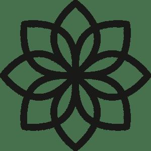 Femme Motion Blume Favicon schwarz