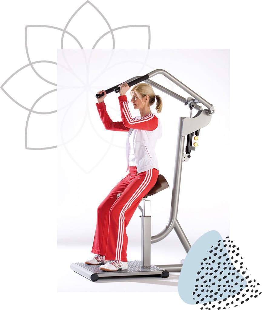 Femme Motion Zirkeltraining Corecurcuit - Schulterblattfixator und Schulterpresse - by Proxomed