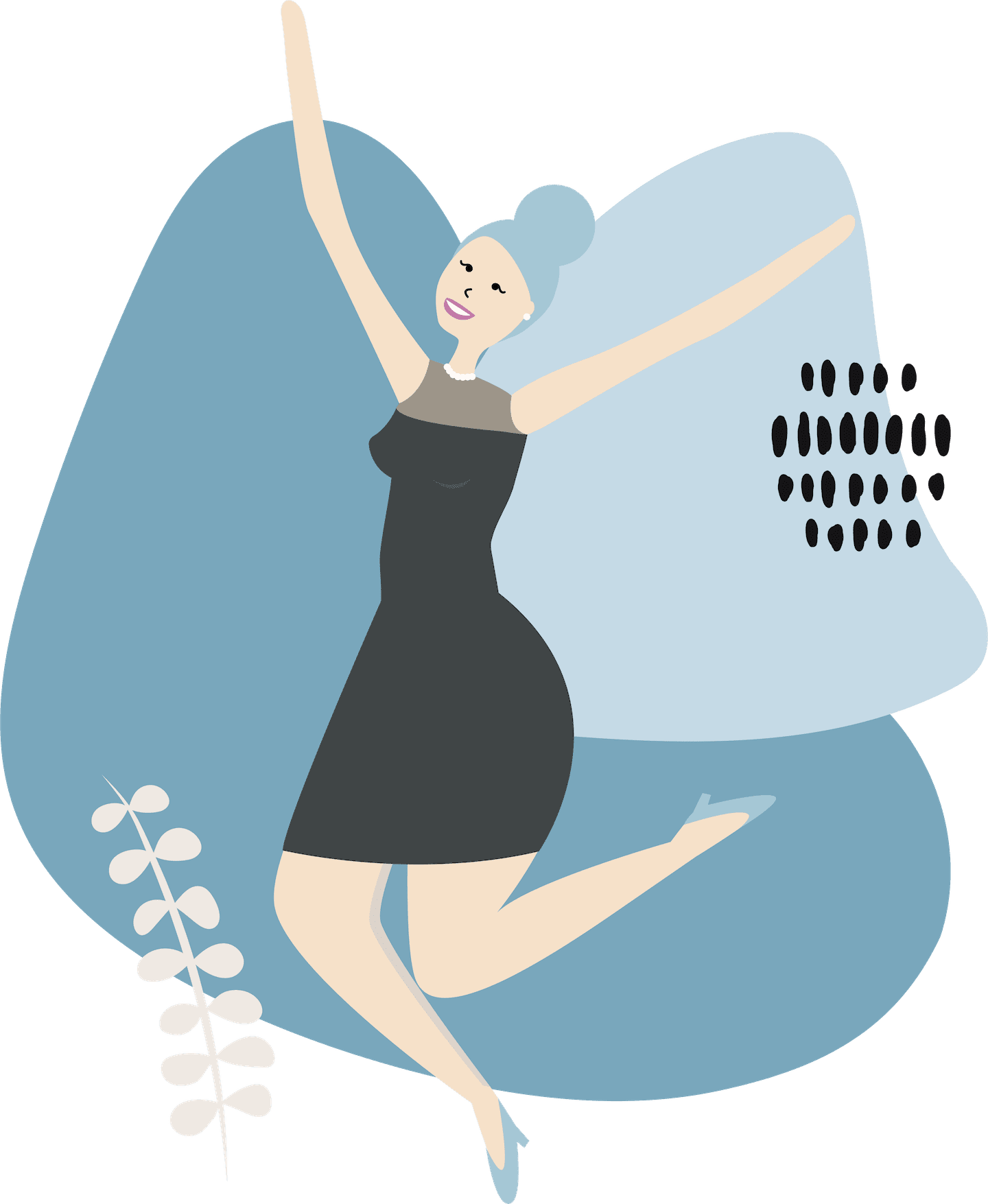 Femme Motion Illustration - Frauen Fitness in Villach - Wir sind SVA Gesundheitspartner - bei uns kann der SVA Gesundheitshunderter für fitte und gesunde Unternehmerinnen eingelöst werden